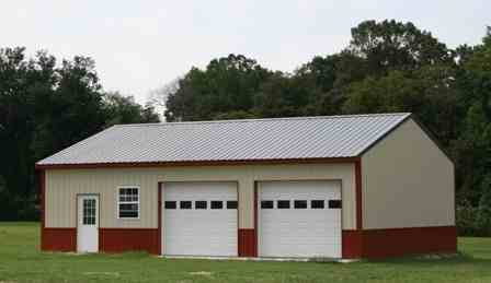 Red polebarns lc valley concrete for Barn builders oregon